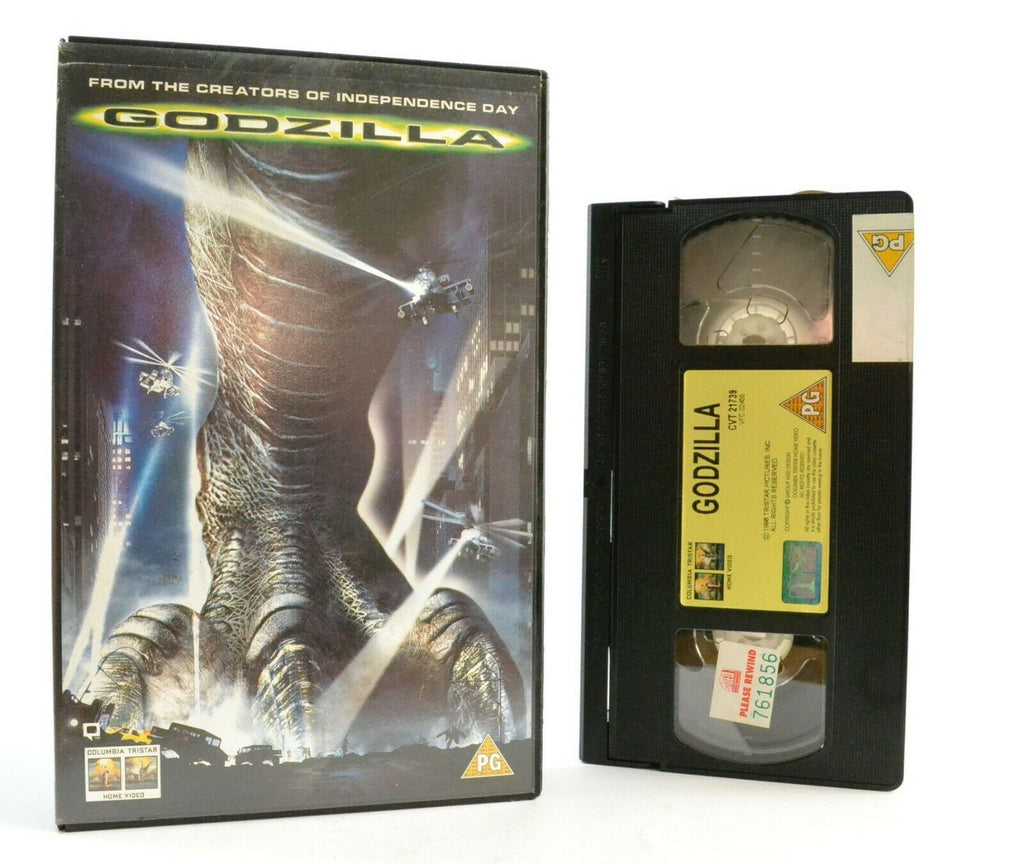 Godzilla: Film By R.Emmerich - Iconic Creature - Large Box - Ex-Rental - Pal VHS