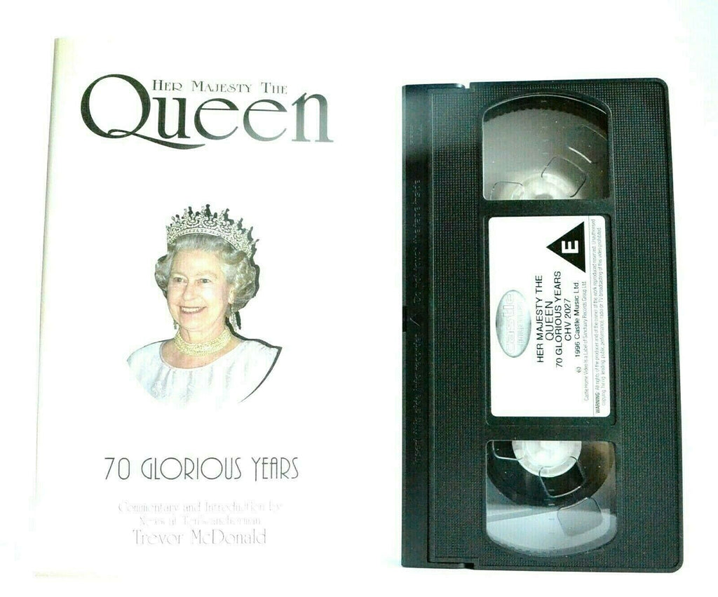 Her Majesty The Queen: 70 Glorious Years - Documentary - Trevor McDonald - VHS