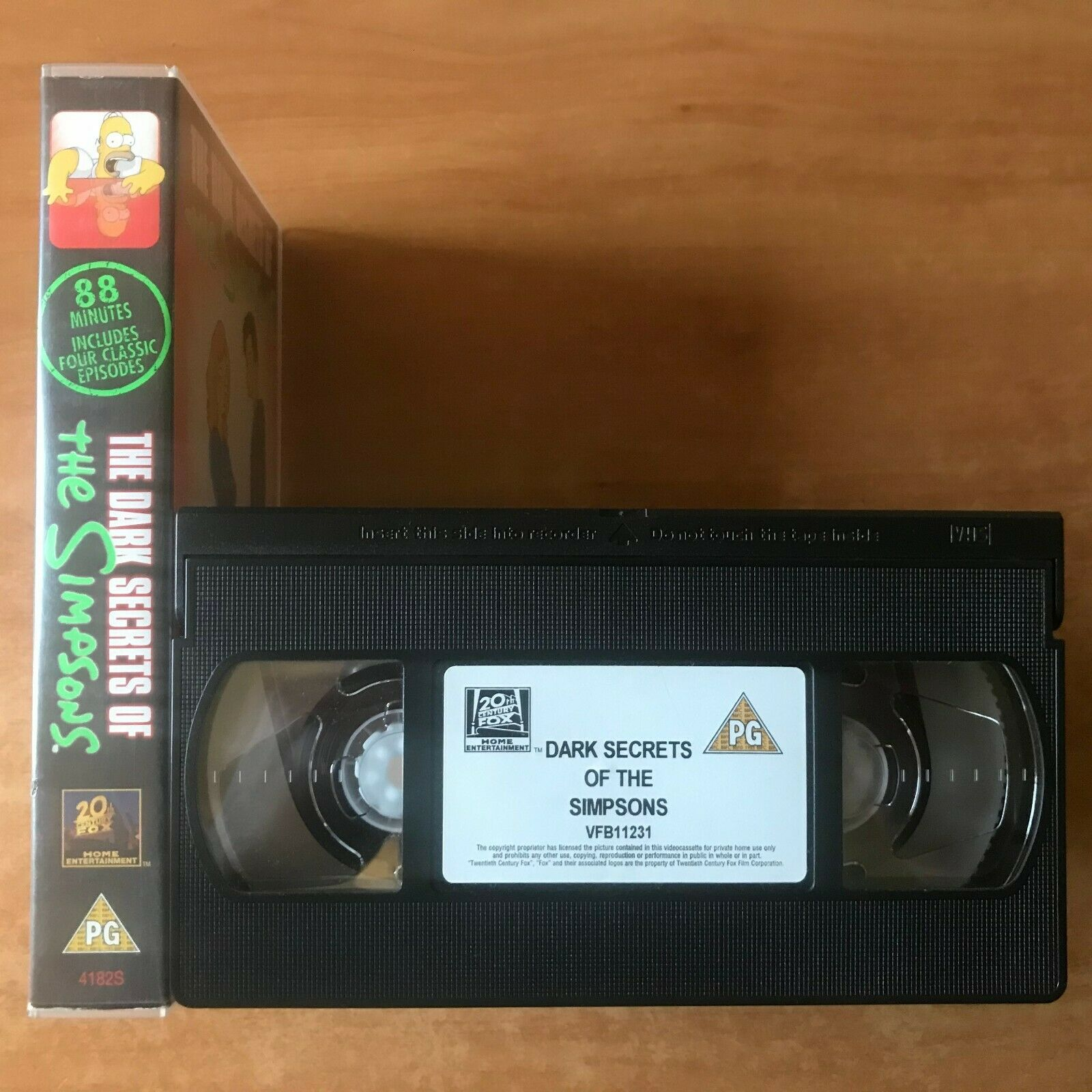 The Dark Secret Of The Simpsons: The Springfield Files [Animated Comedy] Pal VHS