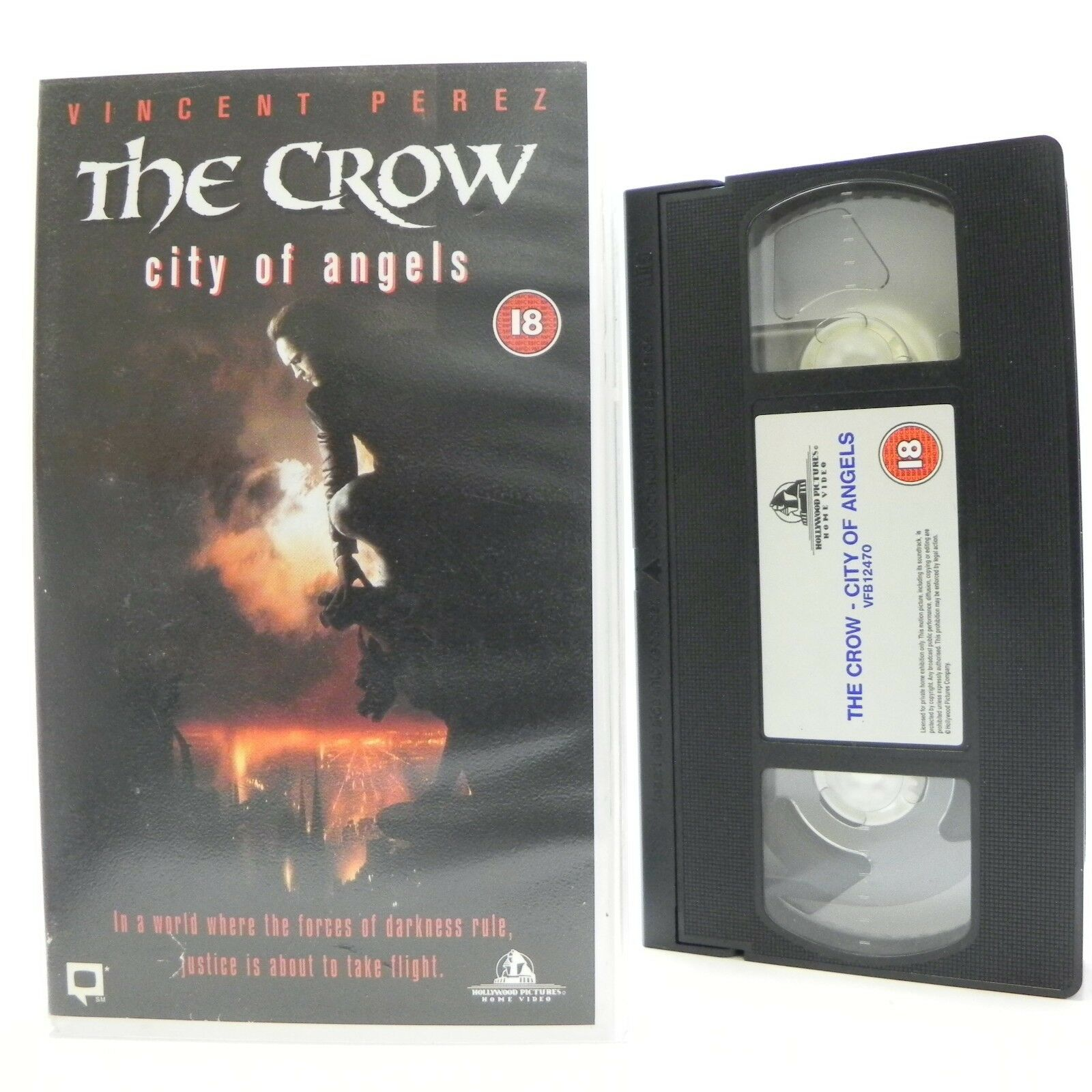 The Crow: City Of Angels - Sci-Fi/Fantasy - Vincent Perez/Mia Kirshner - Pal VHS