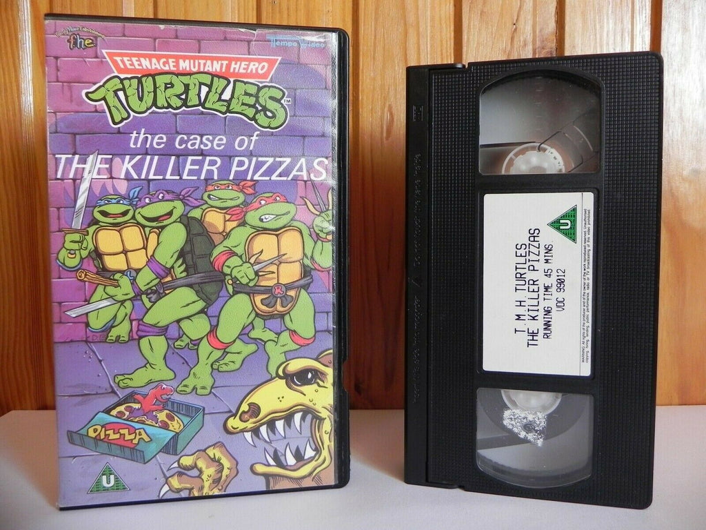 Teenage Mutant Hero Turtles: The Case Of The Killer Pizzas - Animated - Pal VHS