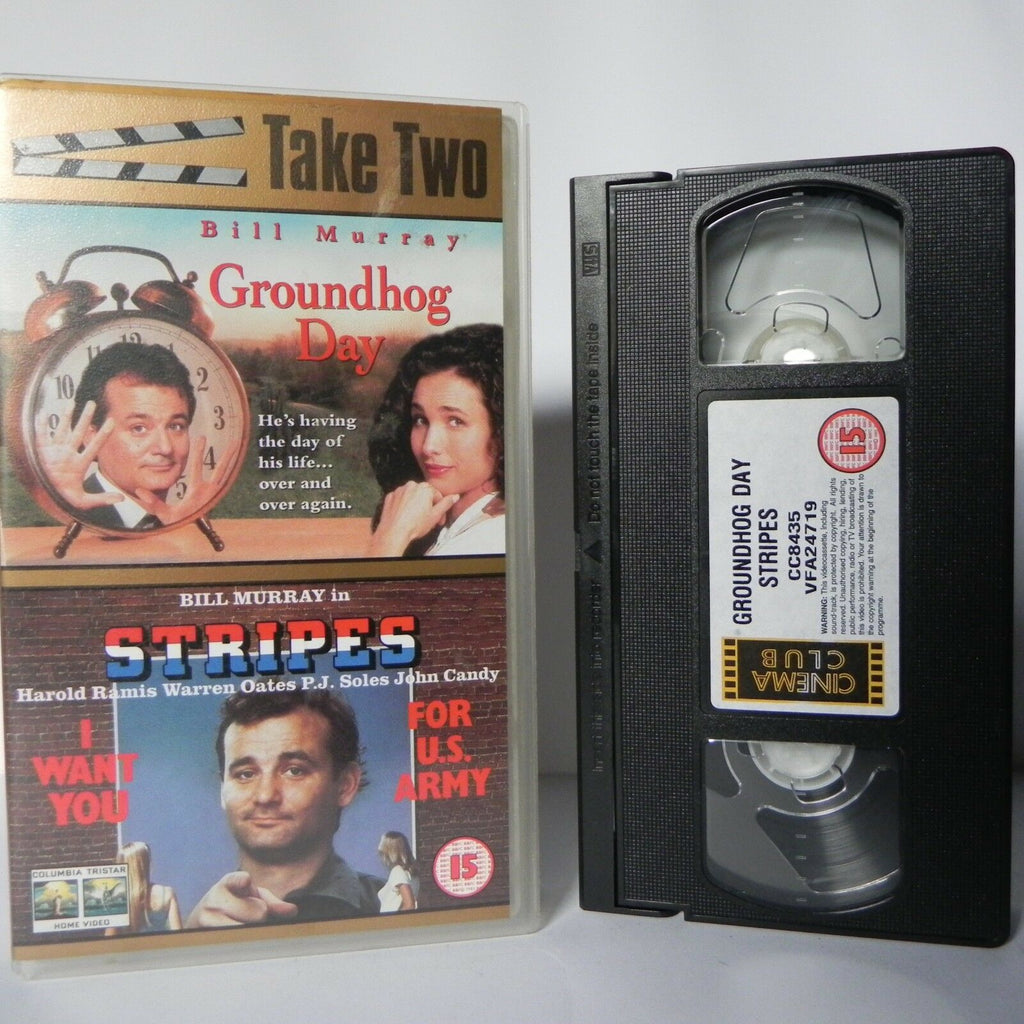 Groundhog Day & Stripes - Columbia 80's Comedy - Classical - Bill Murray - VHS