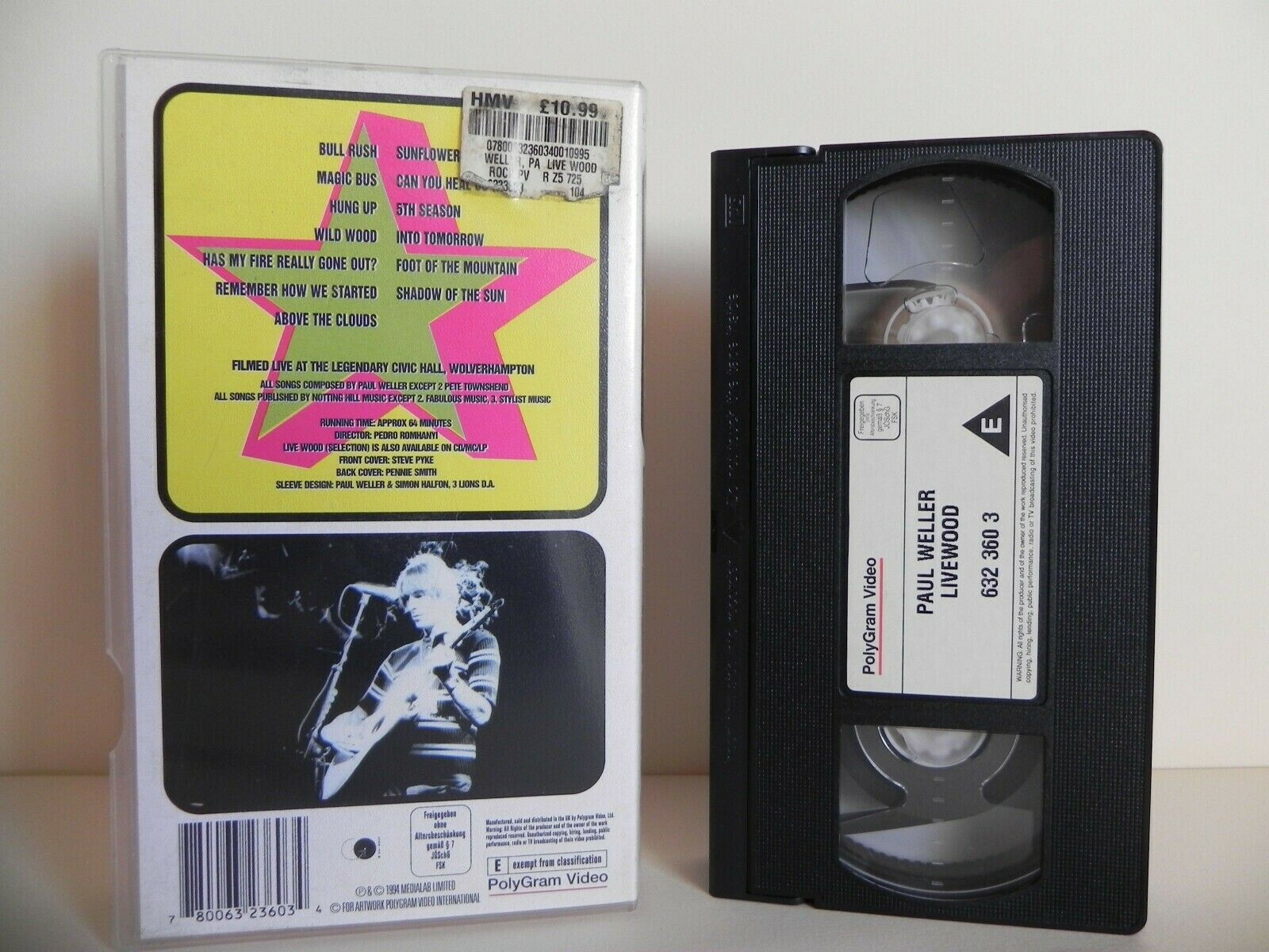 Paul Weller: Live Wood - Civic Hall - Wolverhampton - Bull Rush - Hung Up - VHS