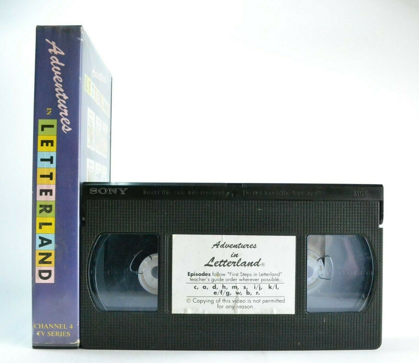 Adventures In Letterland: Channel 4 TV Series - Educational - Children's - VHS