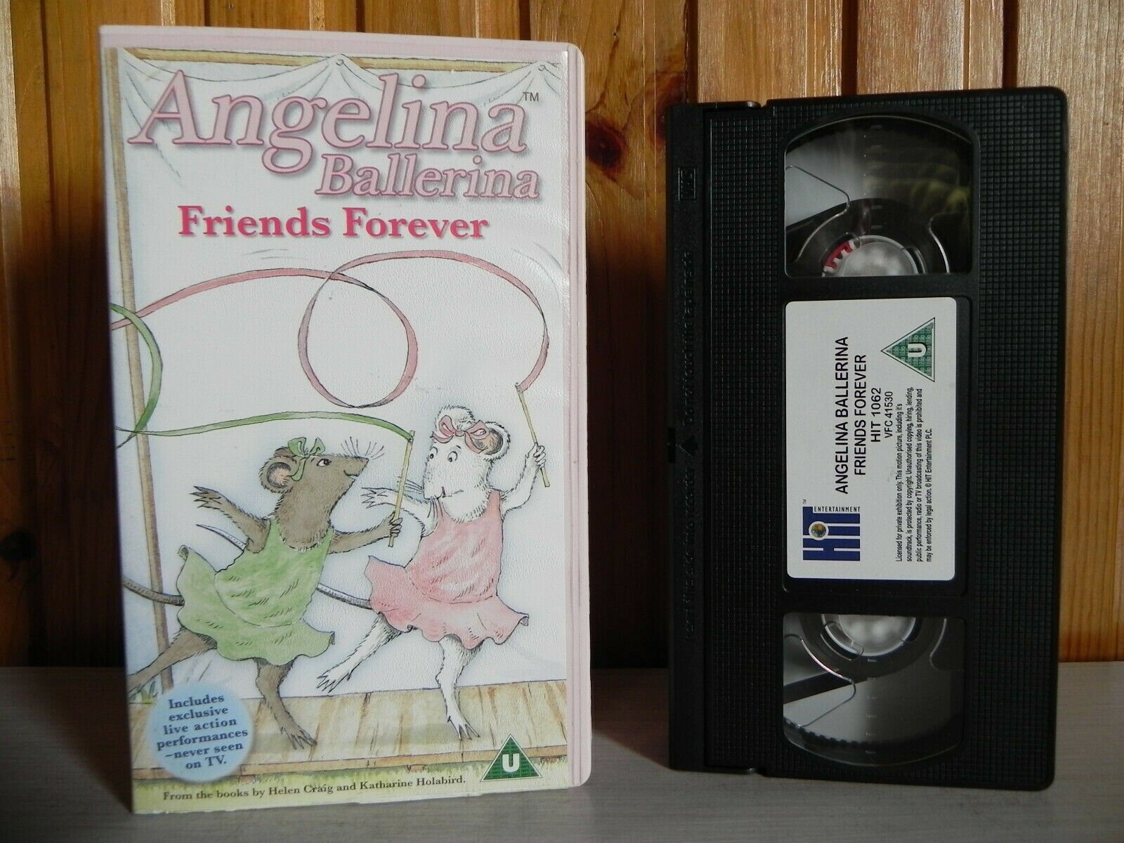 2003, Angelina, Angelina Ballerina, Ballerina, Cartoon, Children's & Family, Children's T.V. Series, Entertainment, Forever, Friends, Hit, Judi Dench, Katharine Holabird, Kids, PAL, U, United Kingdom, VHS