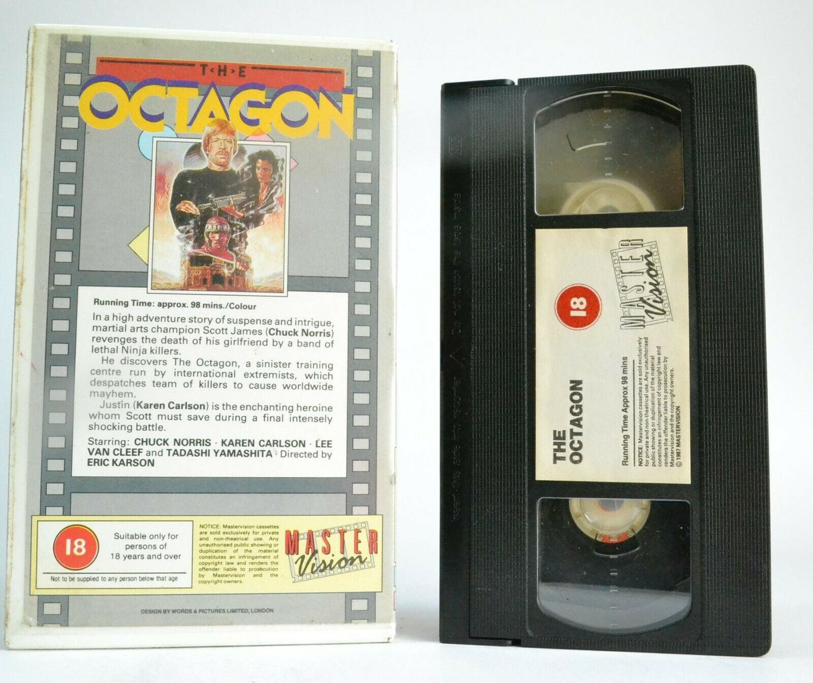 The Octagon (1980): Richard Norton Debut - Ninja Action - Chuck Norris - VHS