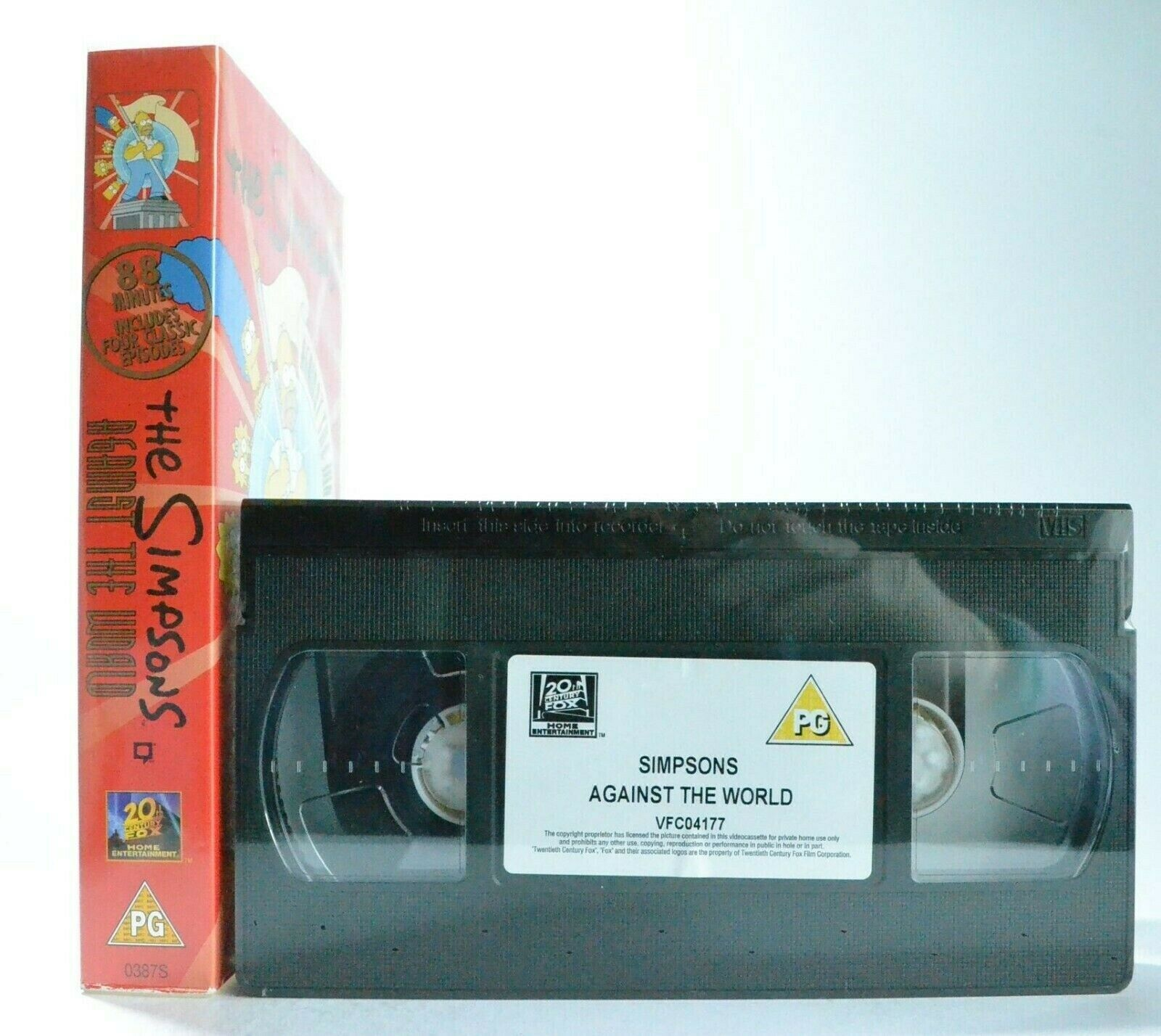 The Simpsons: Against The World - Brand New Sealed - Animated - Kids - Pal VHS