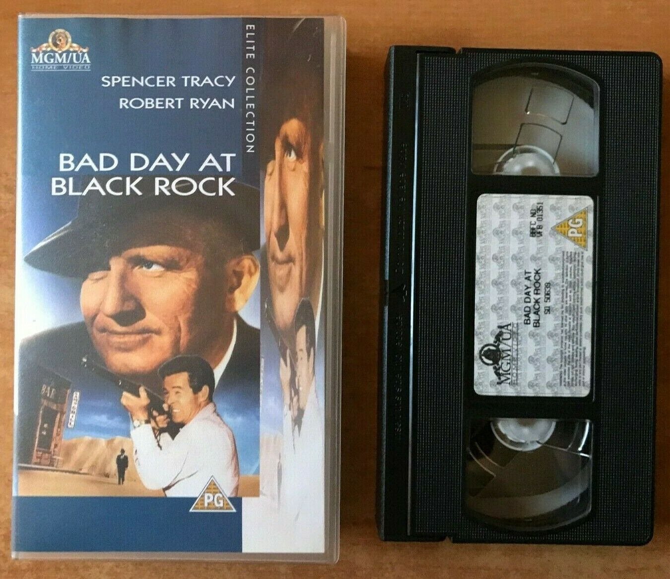 1955, At, Bad, Black, Crime, Day, Drama, PAL, Robert, Rock, Ryan, Spencer, Spencer Tracy, Tracy, VHS