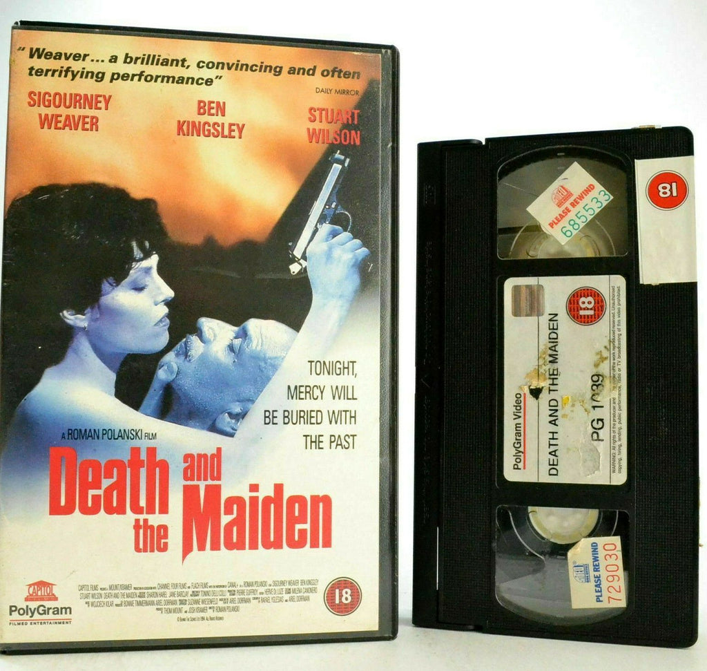 Death & The Maiden: Ben Kingsley/Sigourney Weaver - Roman Polanski Drama - VHS