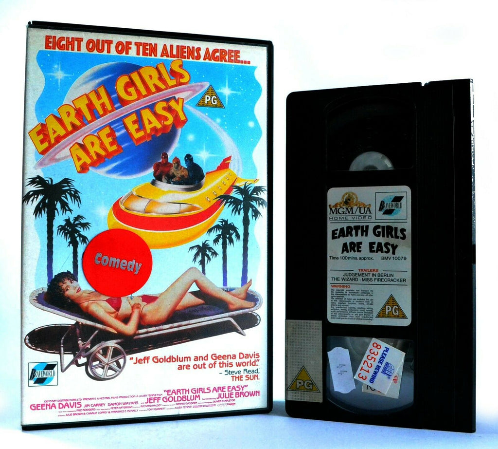 Earth Girls Are Easy: Musical/Romantic Comedy - Large Box - Ex-Rental - Pal VHS