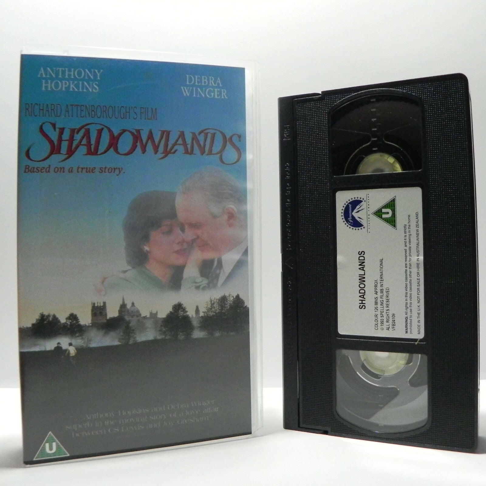 Shadowlands: Anthony Hopkins/Debra Winger - (2000) Drama - True Story - Pal VHS