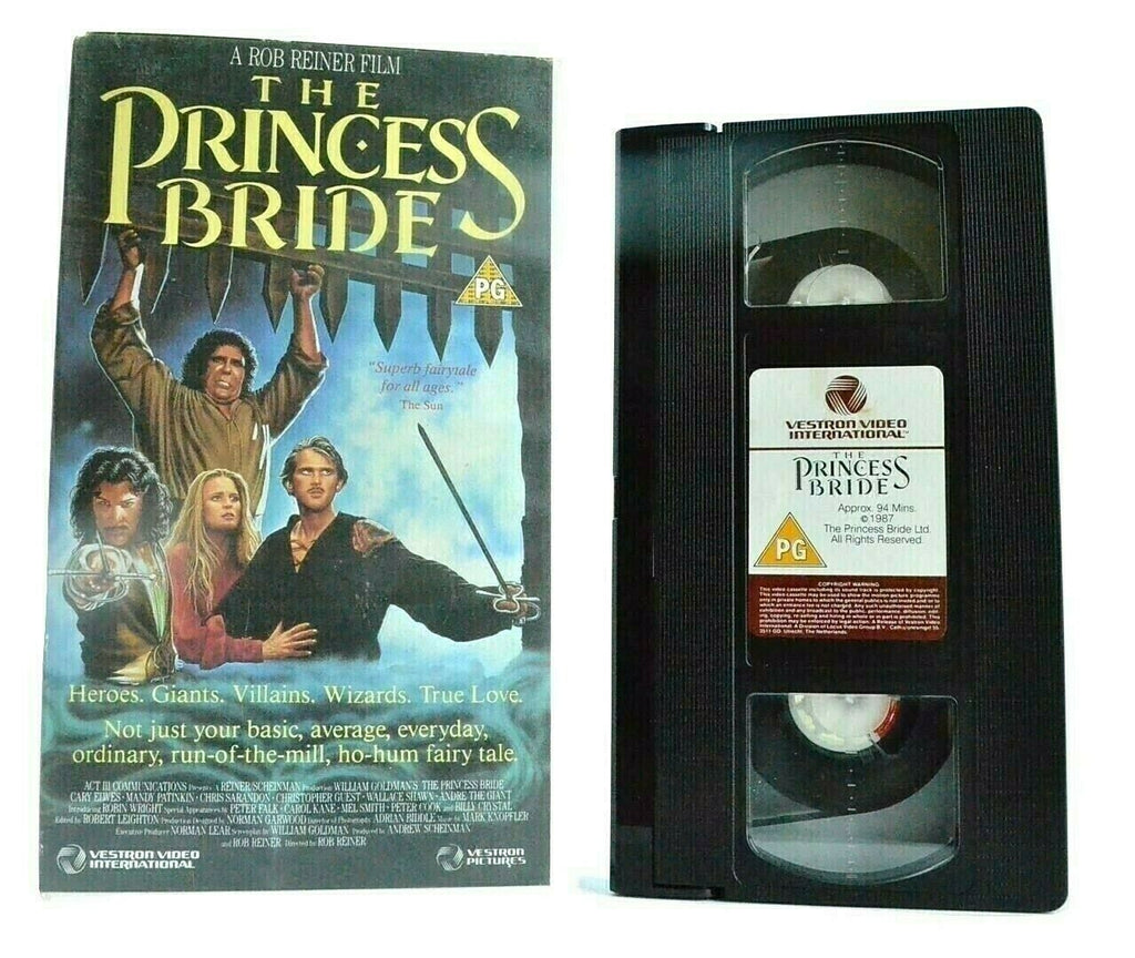 The Princess Bride (1987): [Vestron] Adventure - Cary Elwes - Children's - VHS