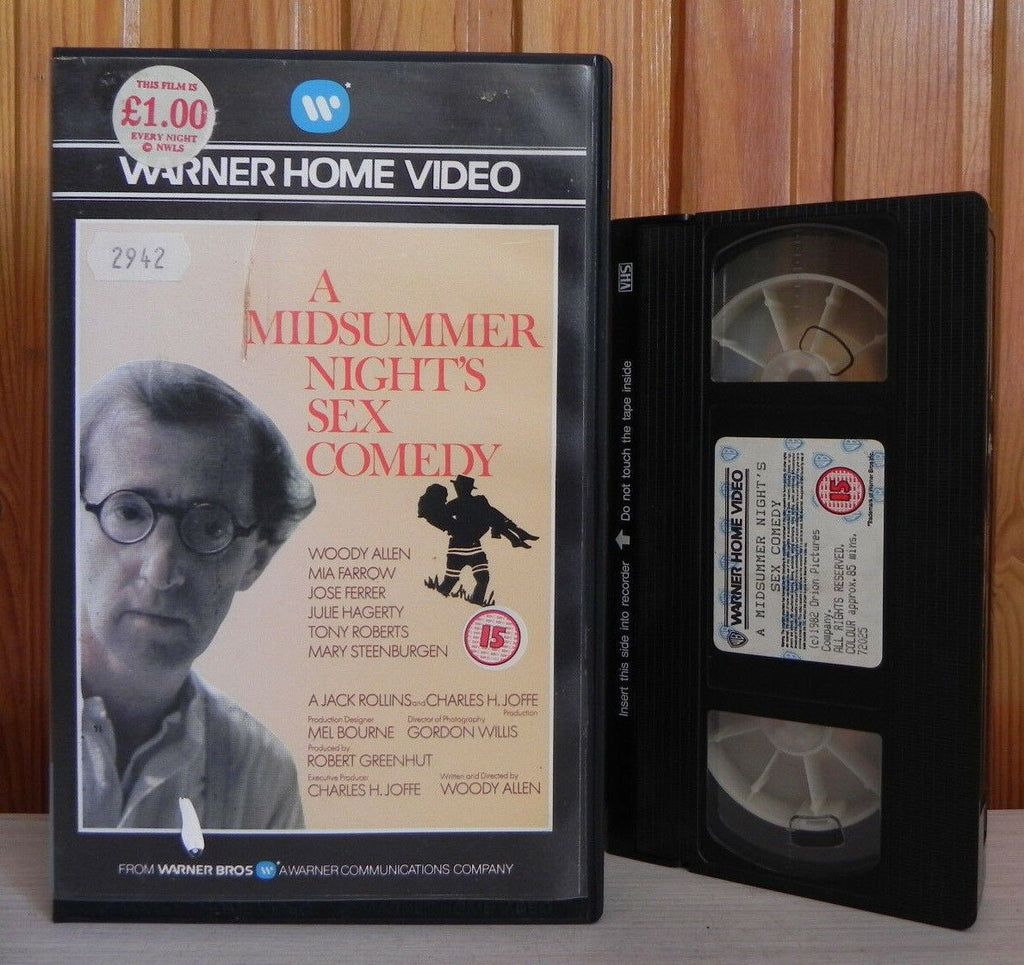 1982, A Midsummer Nights Sex Comedy, Allen, Big, Box, Comedy, Midsummer, Nights, PAL, Pre Cert, PreCert, Sex, United States, VHS, Warner, Woody, Woody Allen