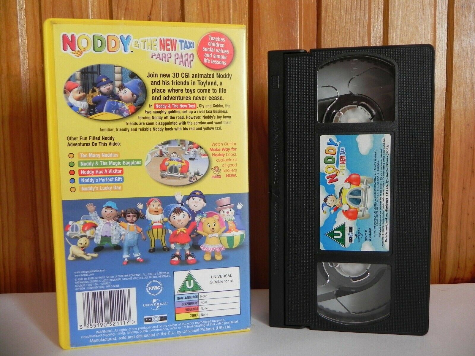 Noddy & The New Taxi - Universal - Brand New Computer Action - Children's - VHS