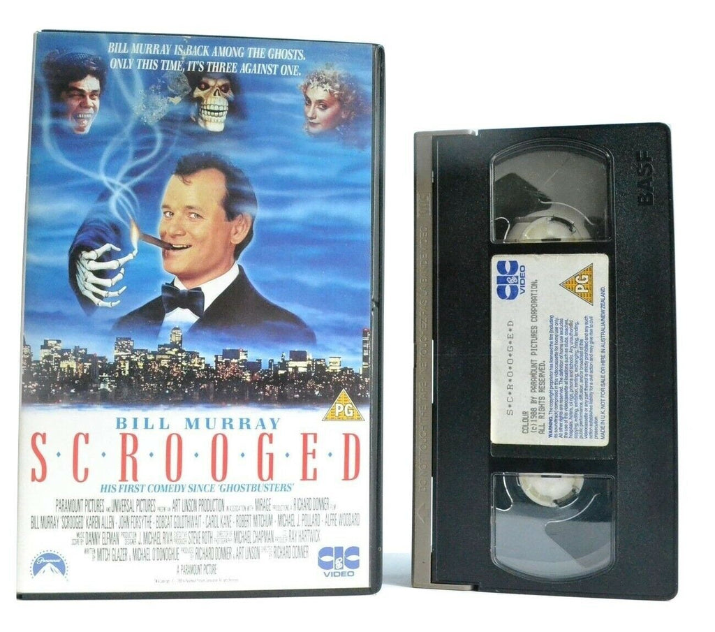 Scrooged (1988): Based On C.Dickens Novel - Christmas Comedy - Bill Murray - VHS