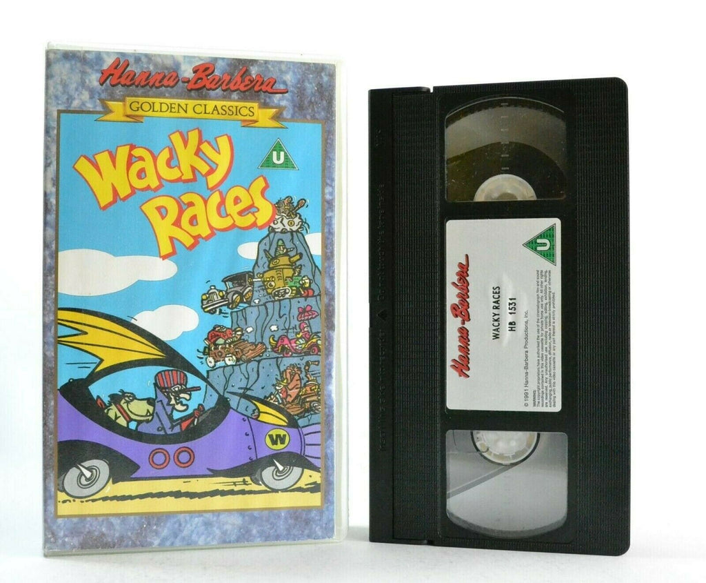 Wacky Races: Golden Classics - Dastardly And Muttley - Animated - Kids - Pal VHS