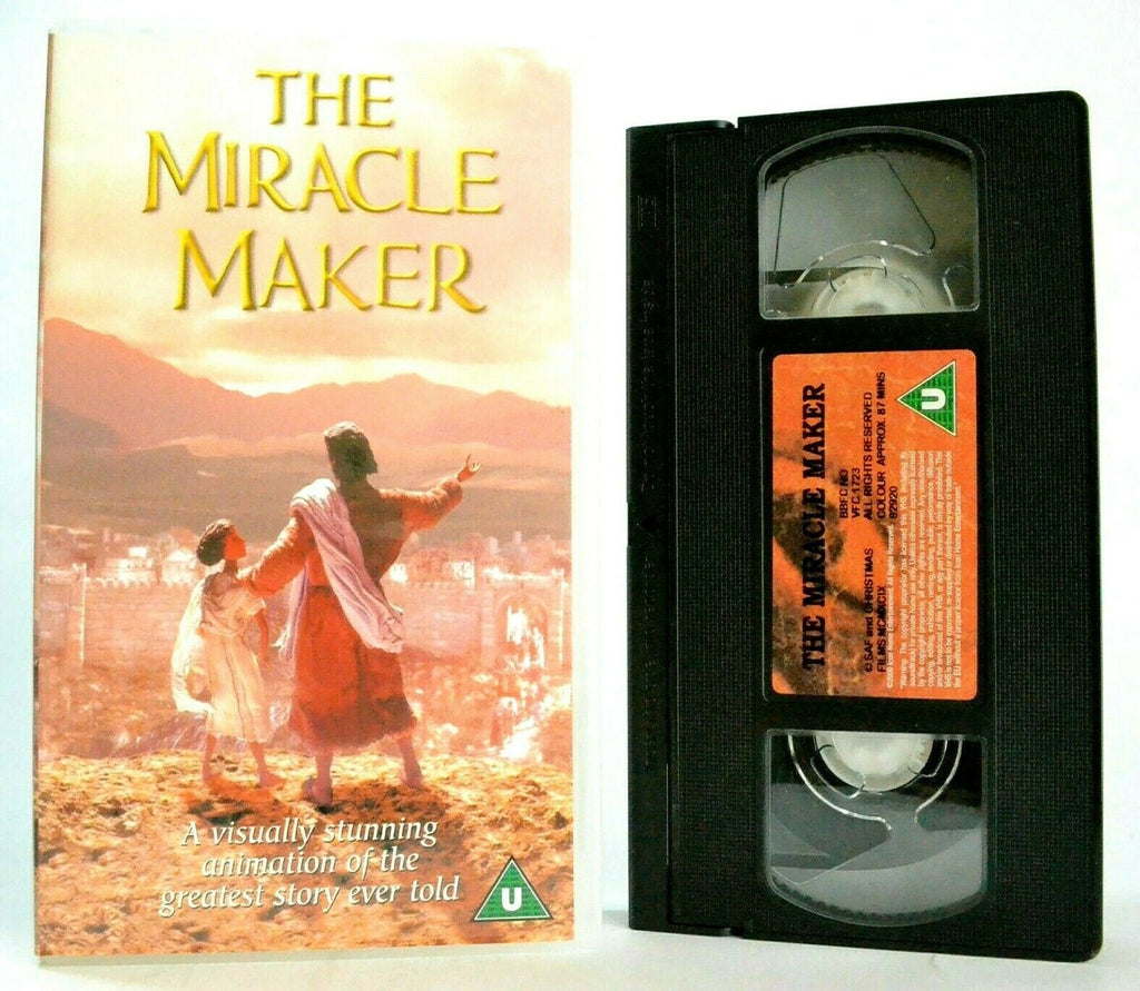 The Miracle Maker: 3D Model Animation - Life Of Jesus - Ralph Fiennes - Pal VHS