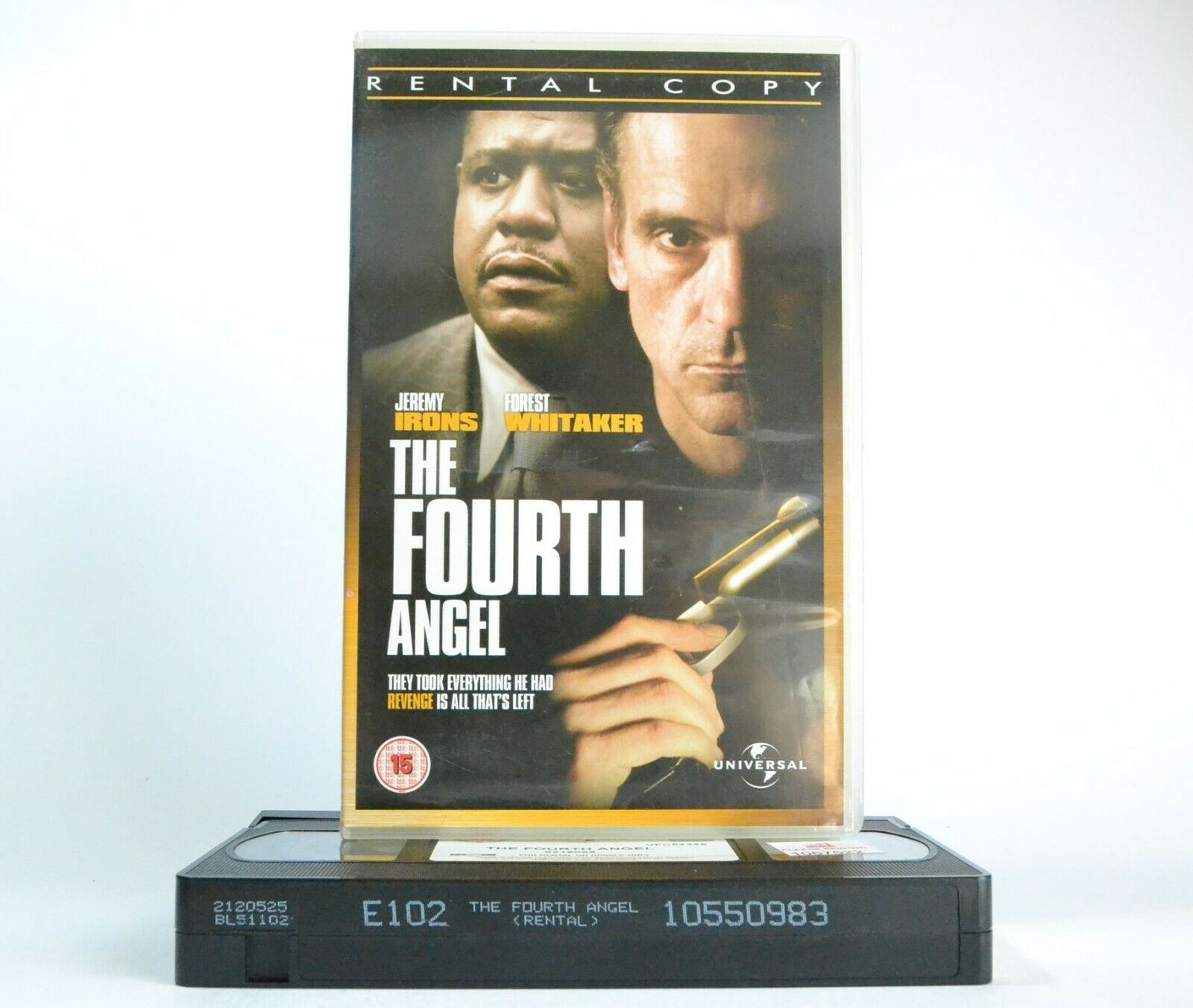 The Fourth Angel: British/Canadian Thriller - Jeremy Irons/Forest Whitaker - VHS