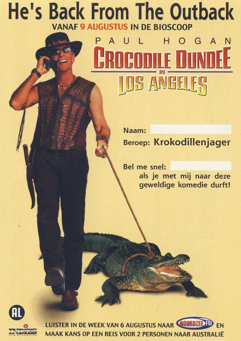 Crocodile Dundee in Los Angeles; [Large Box] Paul Hogan - Large Box - Pal VHS