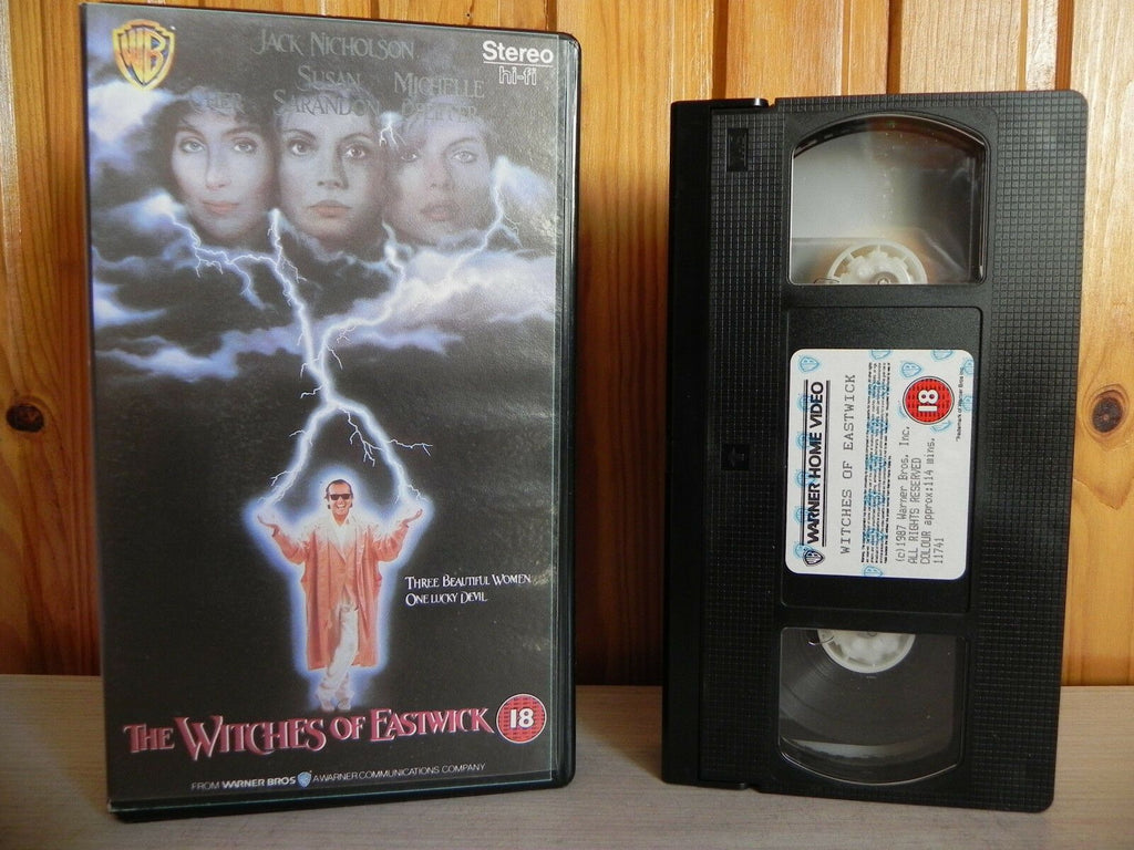 The Witches Of Eastwick - Warner Home - Fantasy - Cher - Jack Nicholson - VHS