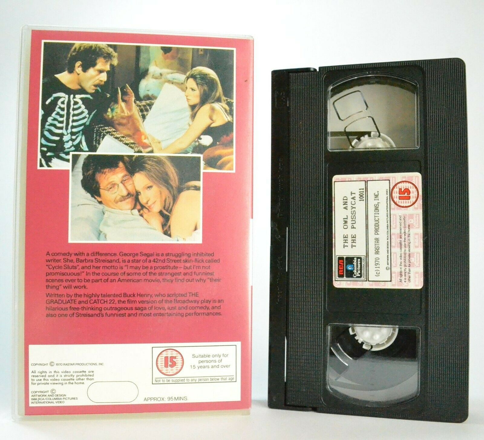 The Owl And The Pussycat: Romantic Comedy (1970) - B.Streisand/G.Segal - Pal VHS
