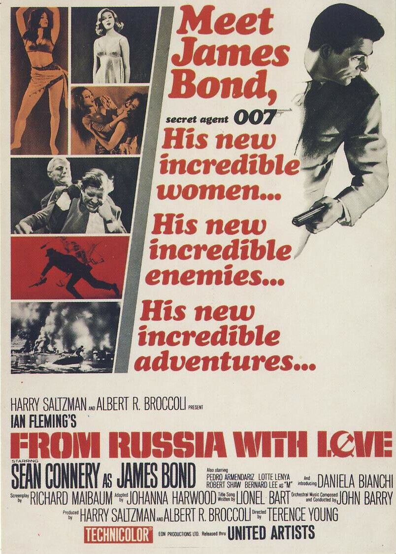 From Russia With Love (1963): James Bond Collection - Brand New Sealed - Pal VHS