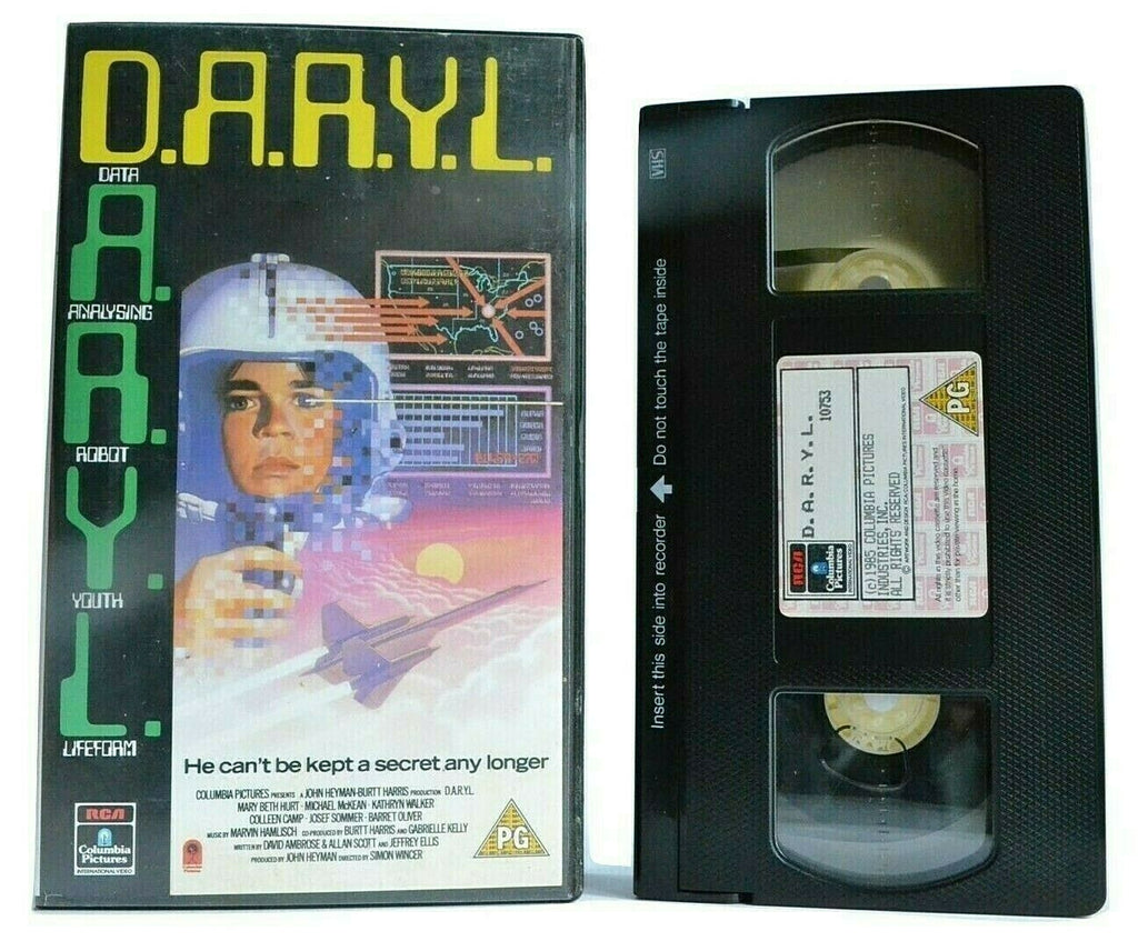 D.A.R.Y.L.(Daryl): Artificial Intelligence Experiment - Barret Oliver - Pal VHS