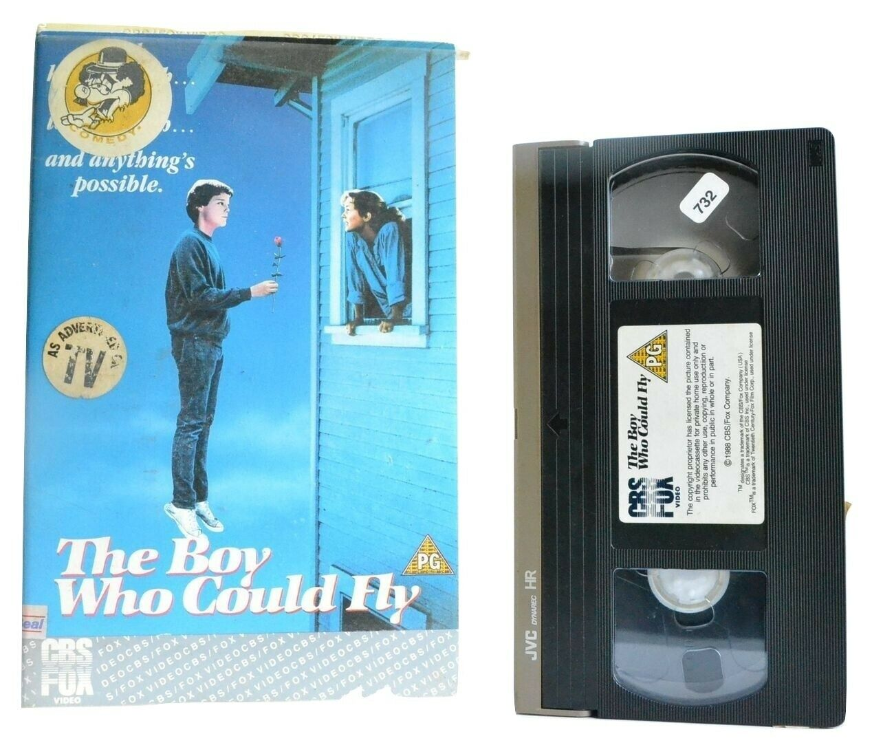 The Boy Who Could Fly: (1988) CBS/FOX - Romantic Comedy - Bonnie Bedelia - VHS