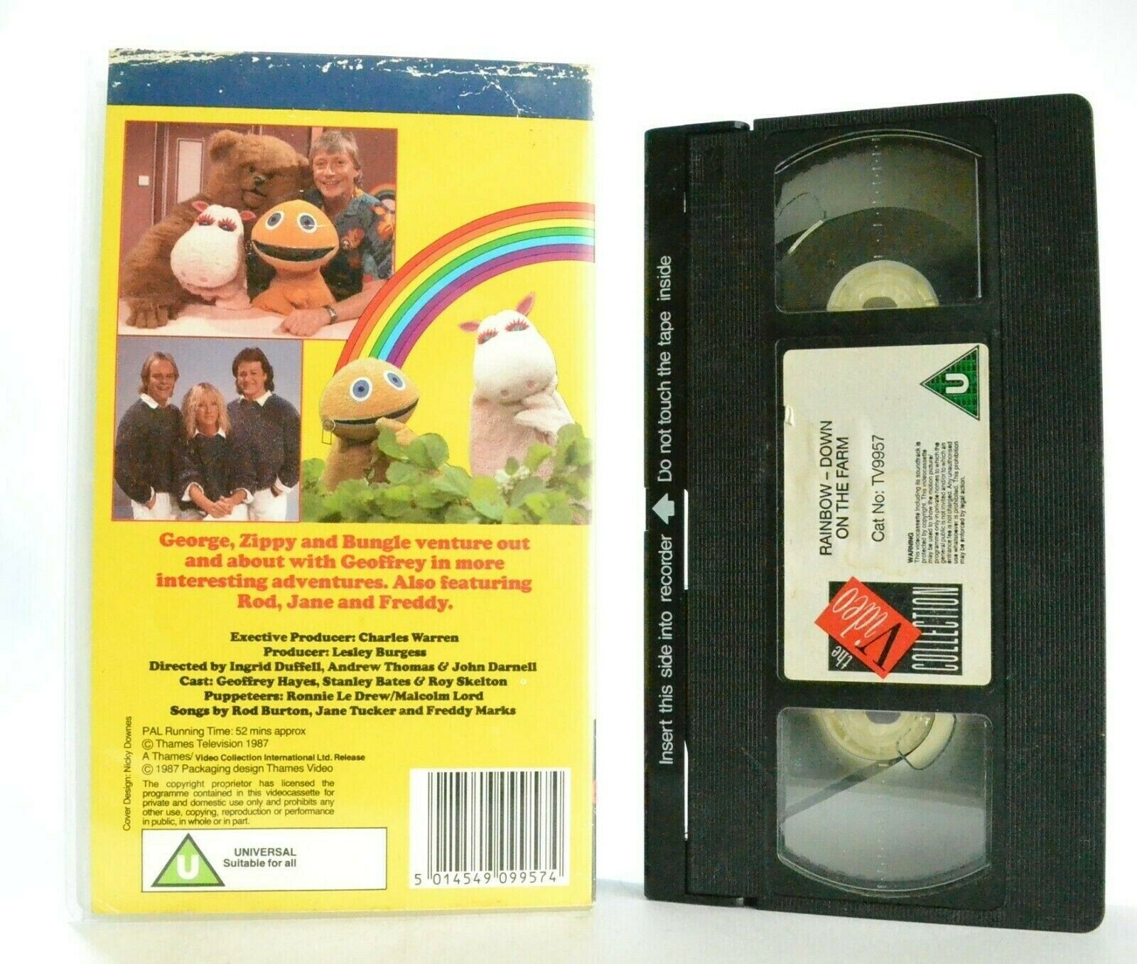 Rainbow: Down On The Farm - Singalong Songs - Educational - Children's - Pal VHS