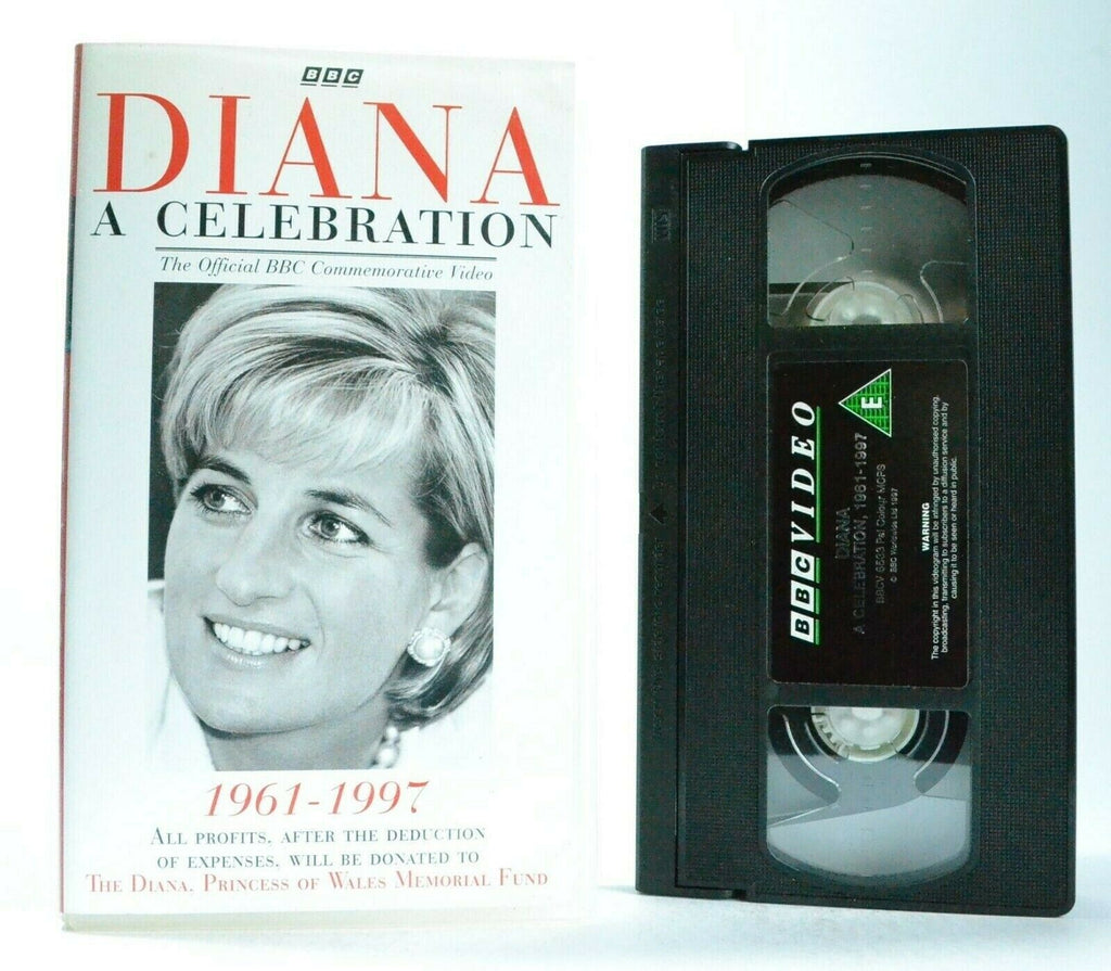 Diana: A Celebration - Documentary - Princess Of Wales - Memorial Fund - Pal VHS