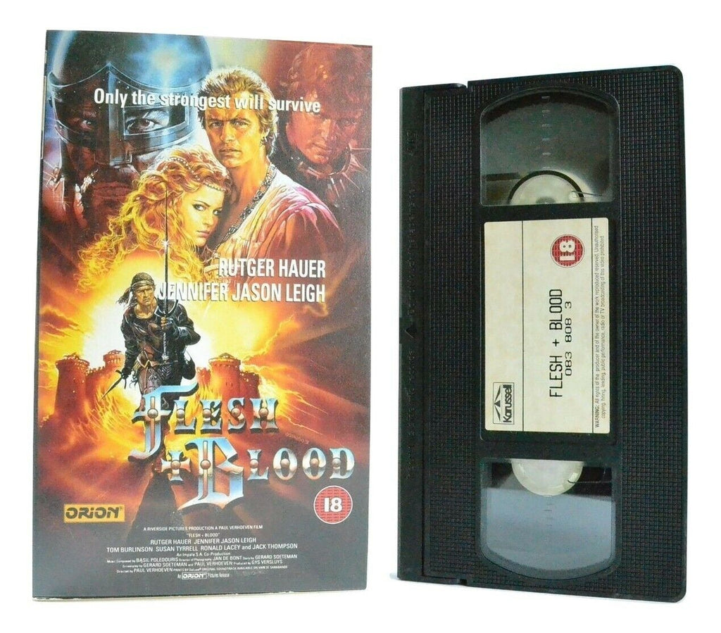 Flesh And Blood (Flesh+Blood): (1985) Historical Erotic Drama - R.Hauer - VHS