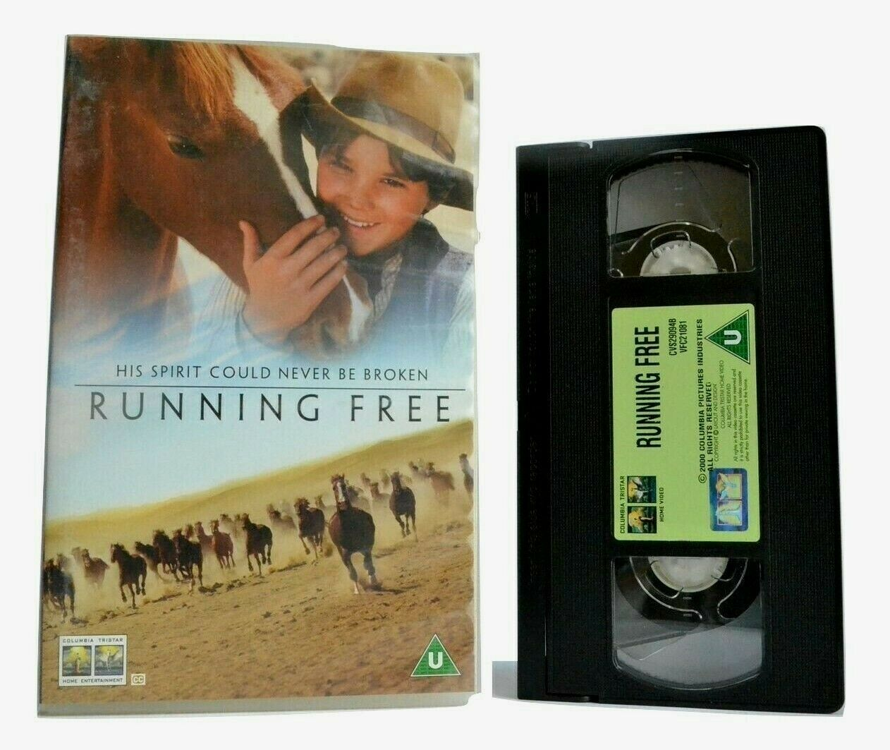 Running Free (2000): Remarkable Frendship - Family/Adventure - Large Box - VHS