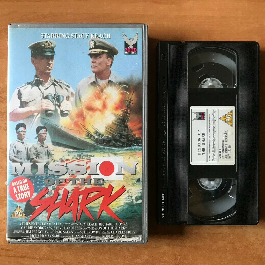 Mission Of The Shark: (1991) Made For TV [Large Box] Action - Stacy Keach - VHS