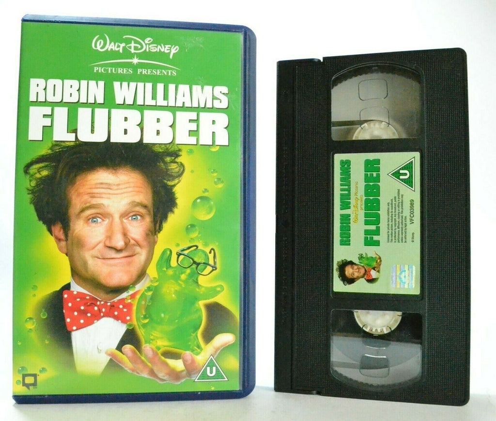 Flubber: Sci-Fi Comedy (1997) - Walt Disney - Robin Williams - Children's - VHS