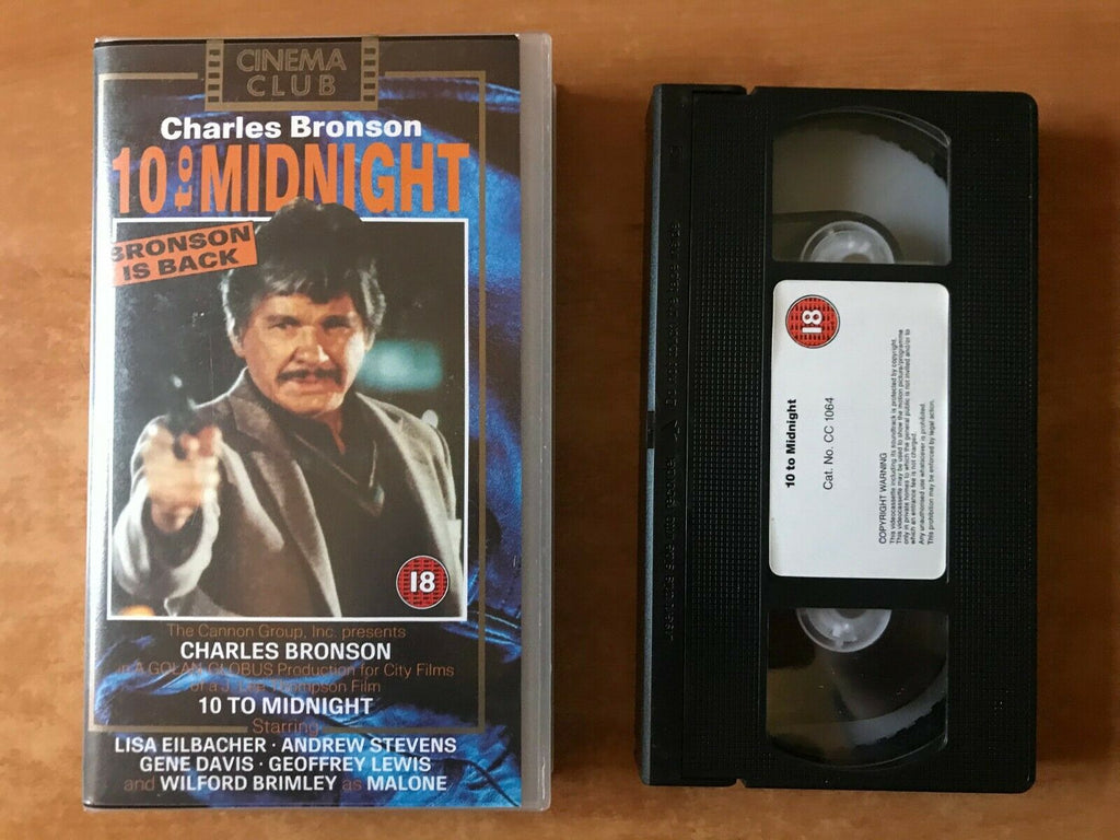 10 To Midnight: (1983) Crime Thriller - Psychotic Killer - Charles Bronson - VHS