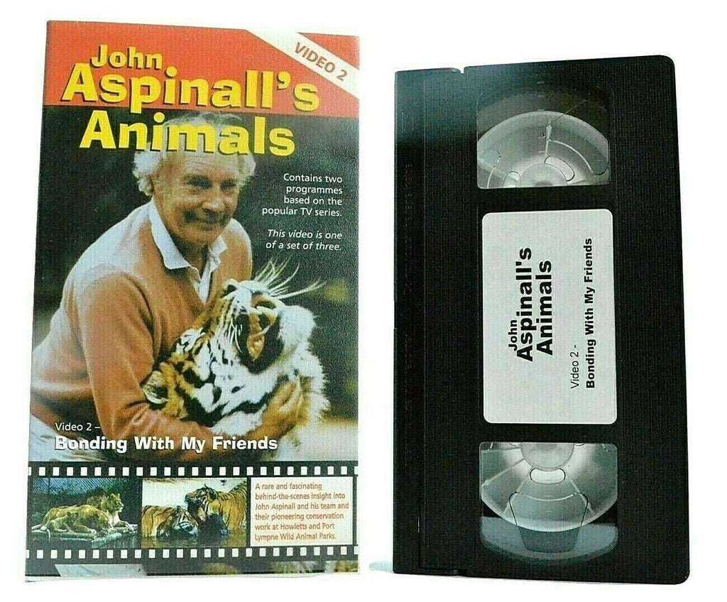Animals: By John Aspinall/Video 2: Bonding With My Friends - TV Series - Pal VHS