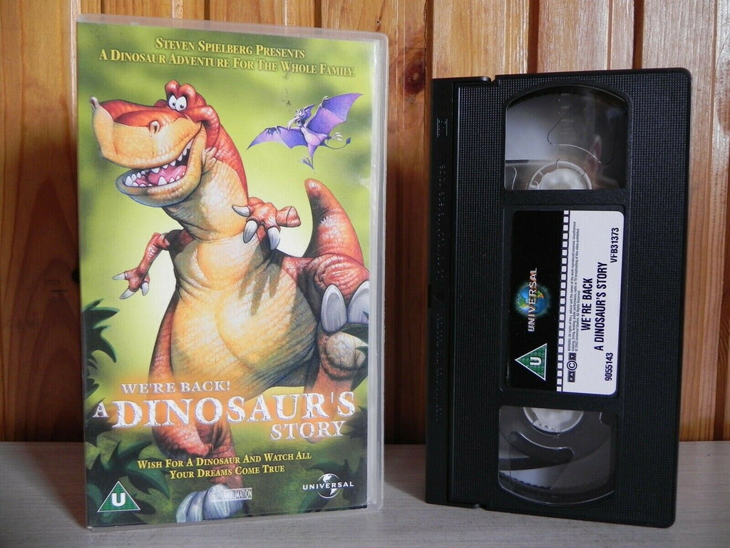 Were Back! A Dinosaur's Story - Universal - Adventure - Family - Kids - Pal VHS
