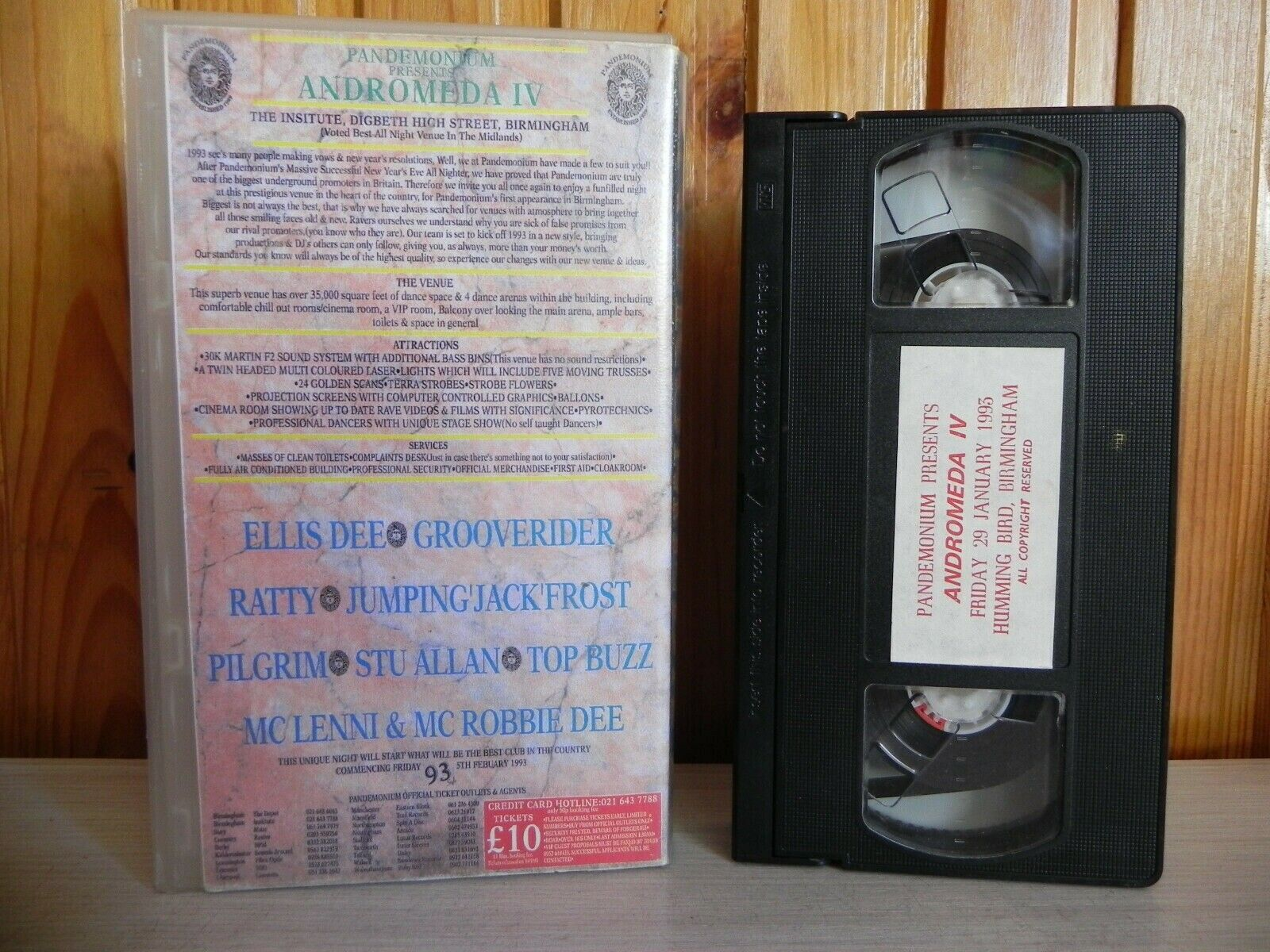 Pandemonium: Andromeda 4 (5th Feb '93) - Ellis Dee - Grooverider - Ratty - VHS