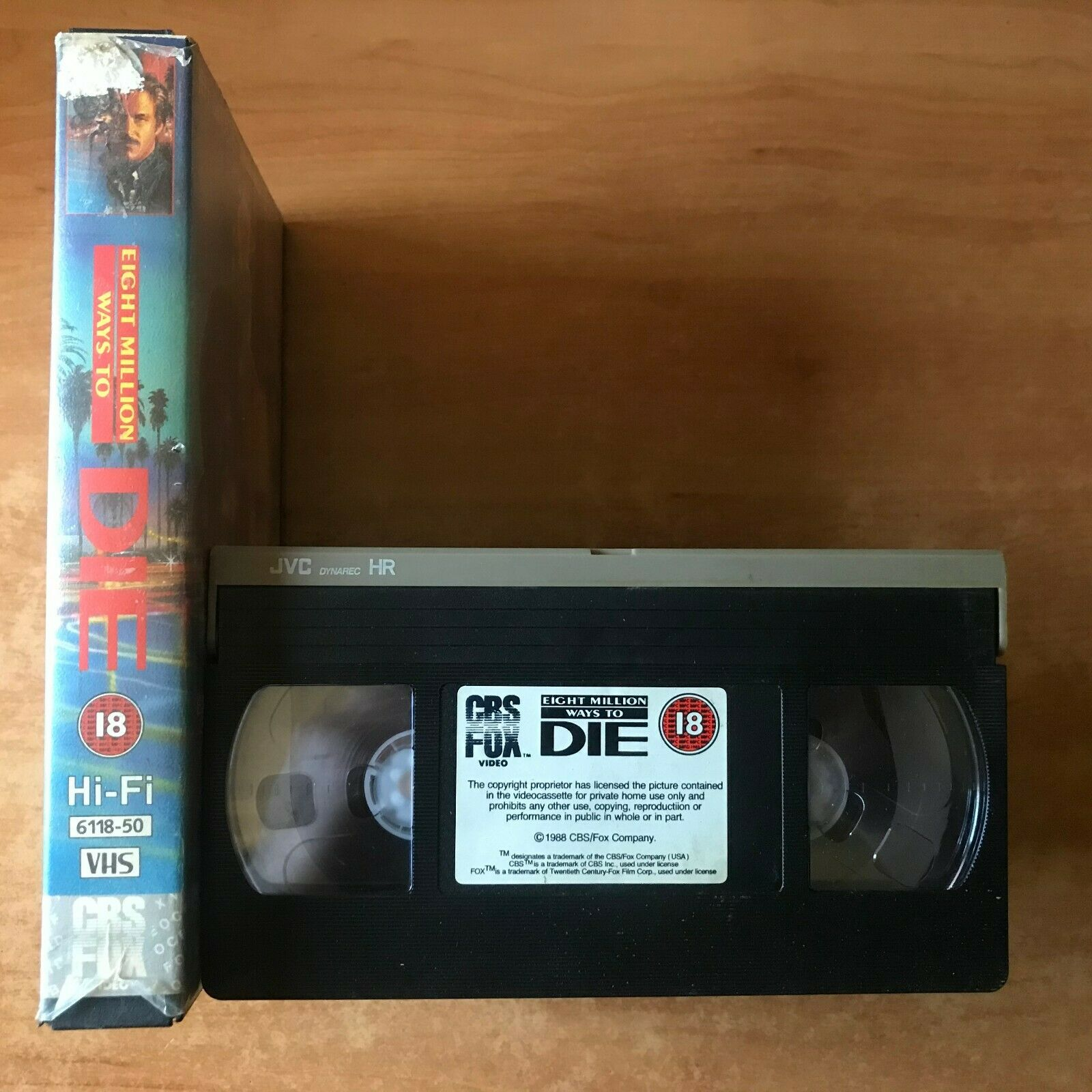 1st, Action, Action & Adventure, Andy Garcia, Box, Eight, Eight Million Ways To Die, Garcia, Large, Lead, Million, PAL, To, VHS, Ways