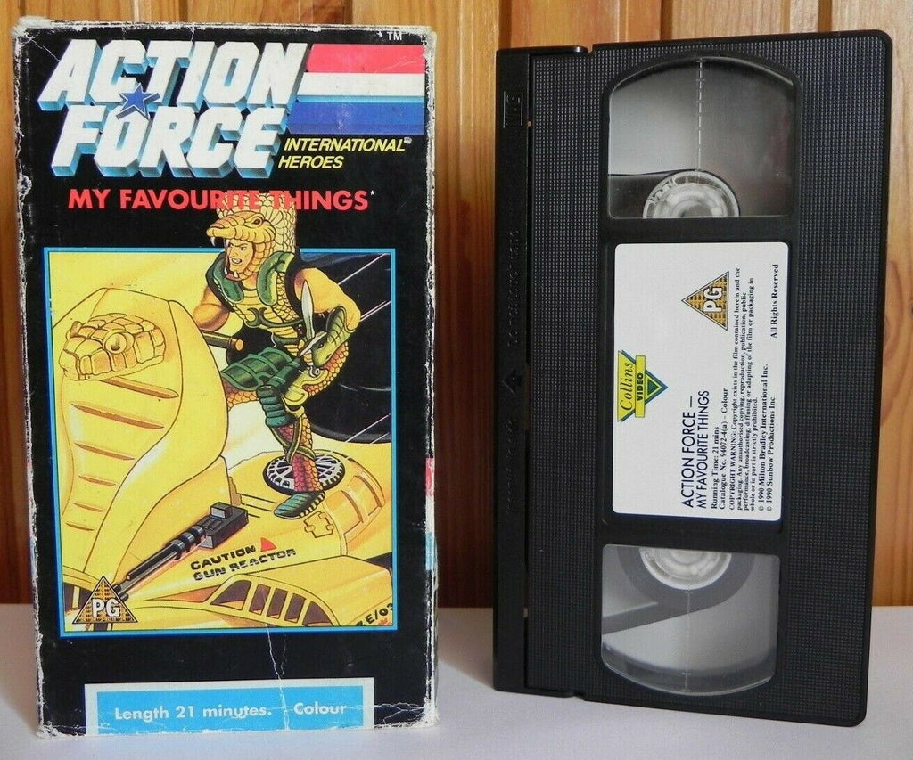 Action Force: My Favourite Things - Animated - Action Adventure - Kids - Pal VHS