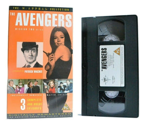 The Avengers: Mission Two Of Six - TV Series - 3 Episodes - Remastered - Pal VHS