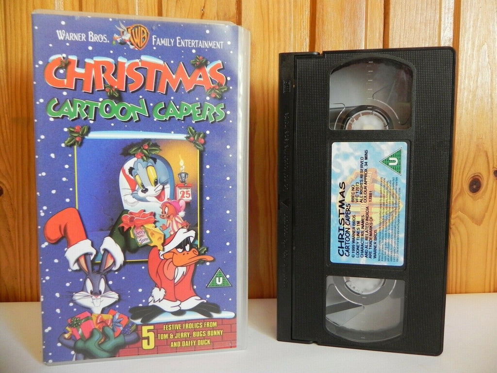 Christmas Cartoon Capers - Warner - Tom & Jerry - Bugs Bunny - Daffy Duck - VHS