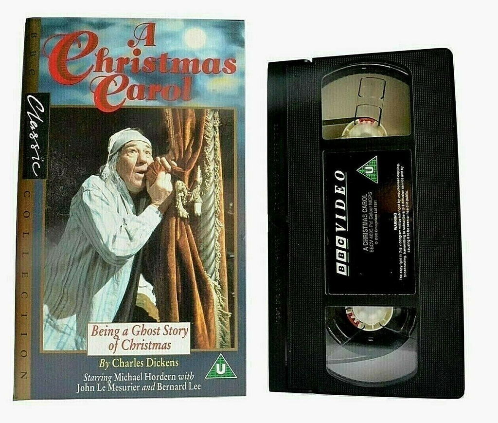 Carol, Children's & Family, Christmas, Ghost, Hordern, Michael, PAL, Story, U, United Kingdom, VHS