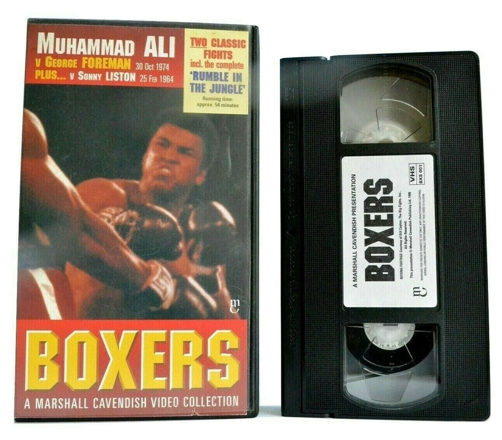 "Boxers: ""Muhamad Ali"" Vs. ""George Foreman"" (1974) - Classic Fights Sports - VHS"