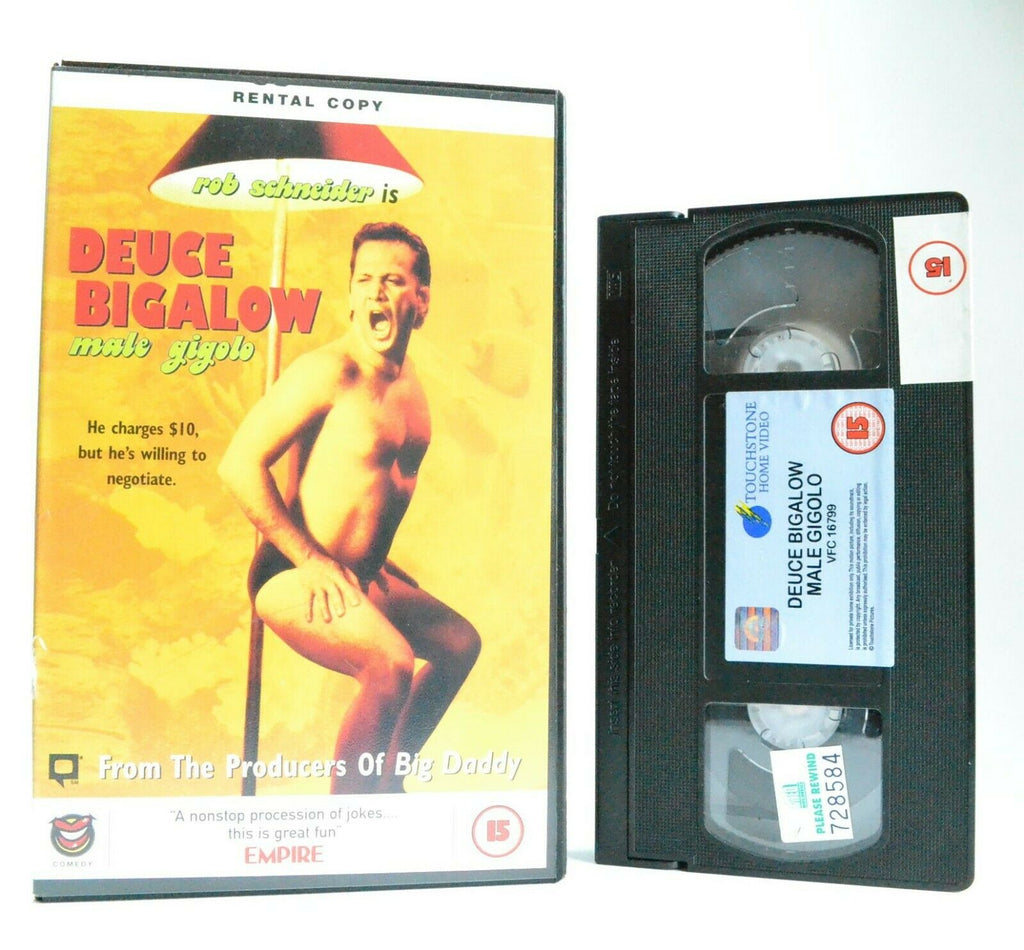 Deuce Bigalow: Male Gigolo - Screwball Comedy (1999) - Large Box Ex-Rental - VHS