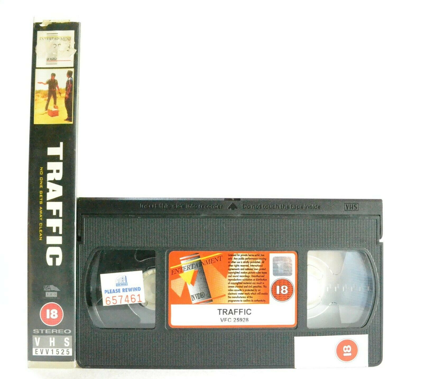 Traffic: Illegal Drug Trade - Crime Drama - Large Box - M.Douglas/D.Quaid - VHS
