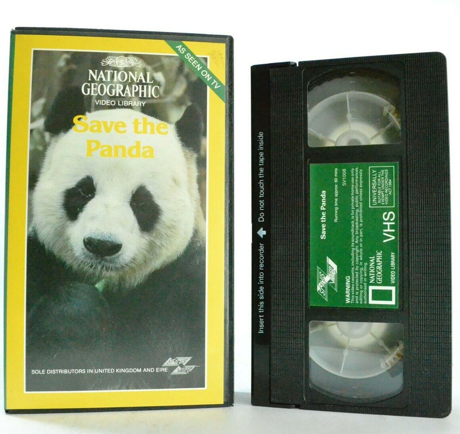 Save The Panda - National Geographic - Video Library - Documantary - Pal VHS
