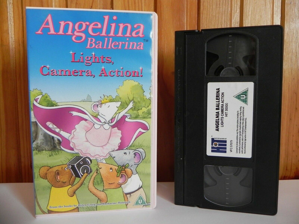 Angelina Ballerina - Lights, Camera, Action! - Hit Entertainment - Kids - VHS