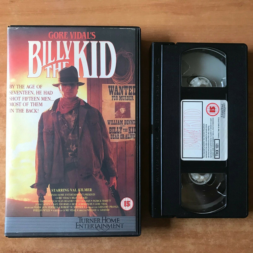 Billy The Kid (1989): Made For TV - Western [Large Box] Val Kilmer - Pal VHS