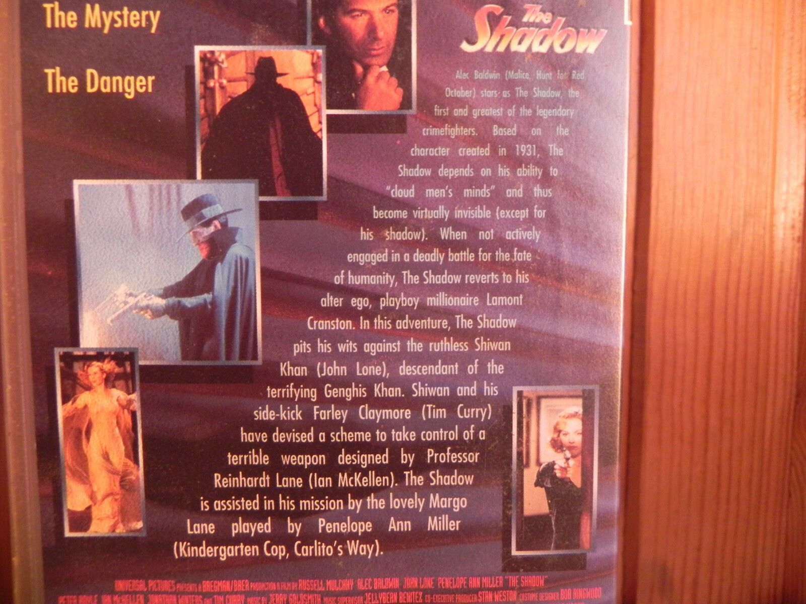 The Shadow - Alec Baldwin - The Glamour, The Mystery, The Danger - Universal VHS